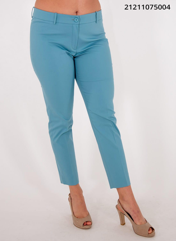 Καλοκαιρινό ελαστικό ίσιο παντελόνι