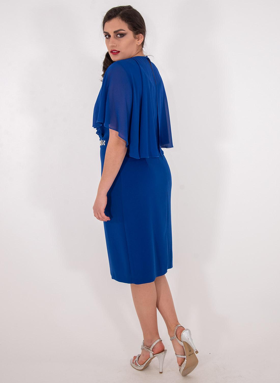 Αμπιγιέ κολακευτικό ρουά φόρεμα