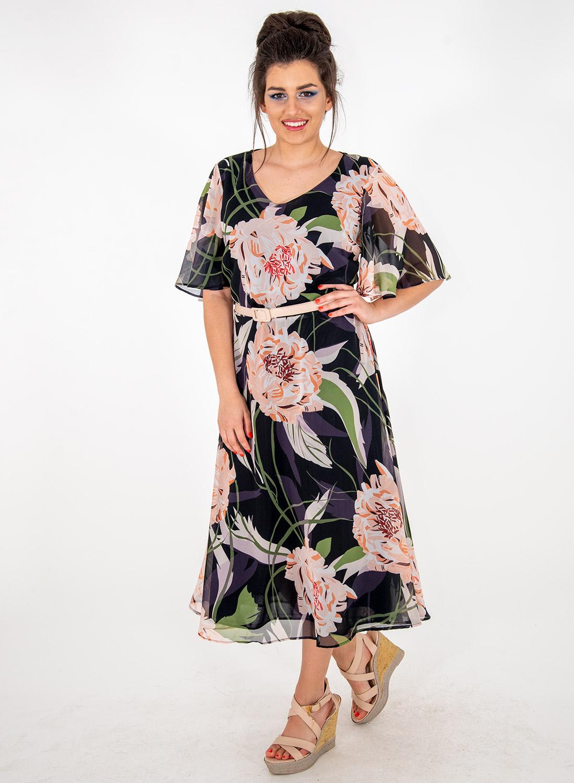 Αέρινο εντυπωσιακό φλοράλ φόρεμα