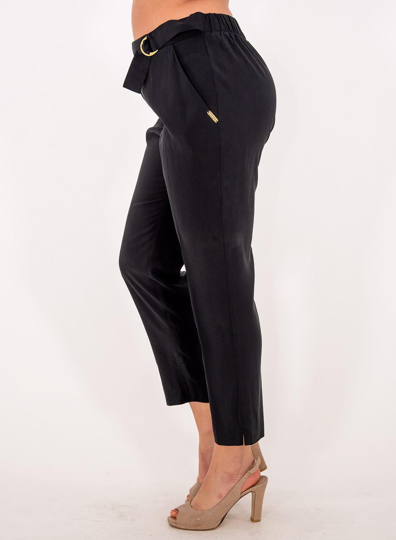 Μαύρο παντελόνι με ζώνη