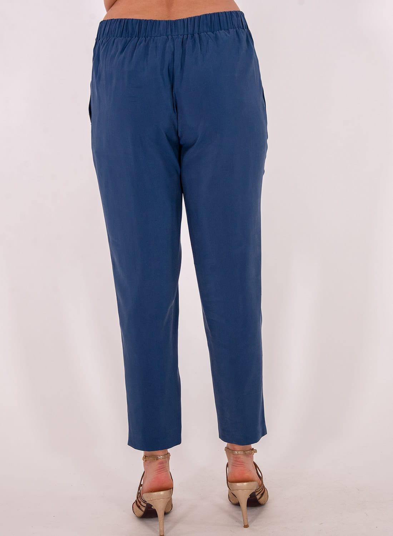 Μπλε παντελόνι με ζώνη
