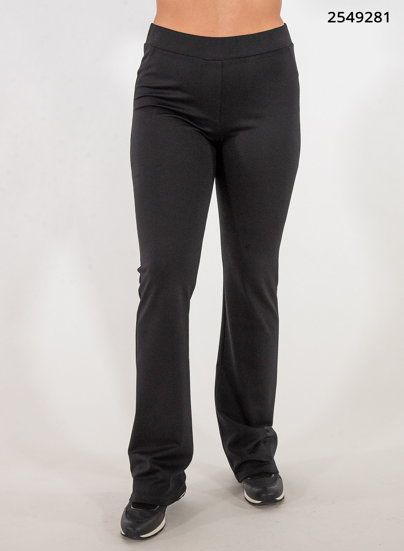 Μαύρη ελαστική παντελόνα με λάστιχο