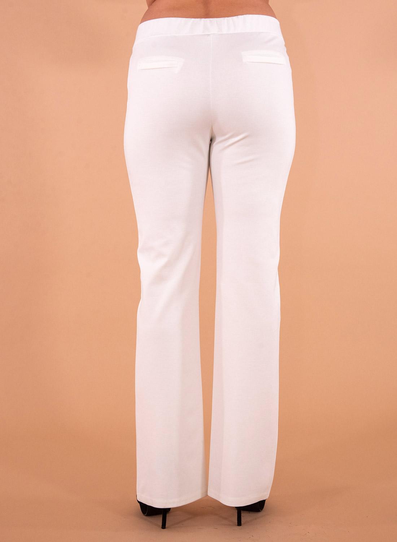 Λευκή ελαστική παντελόνα με λάστιχο