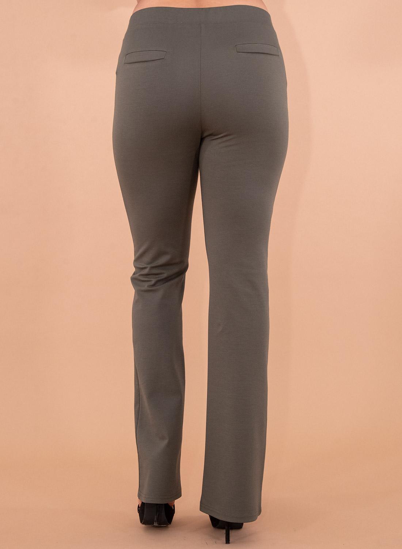Λαδί ελαστική παντελόνα με λάστιχο