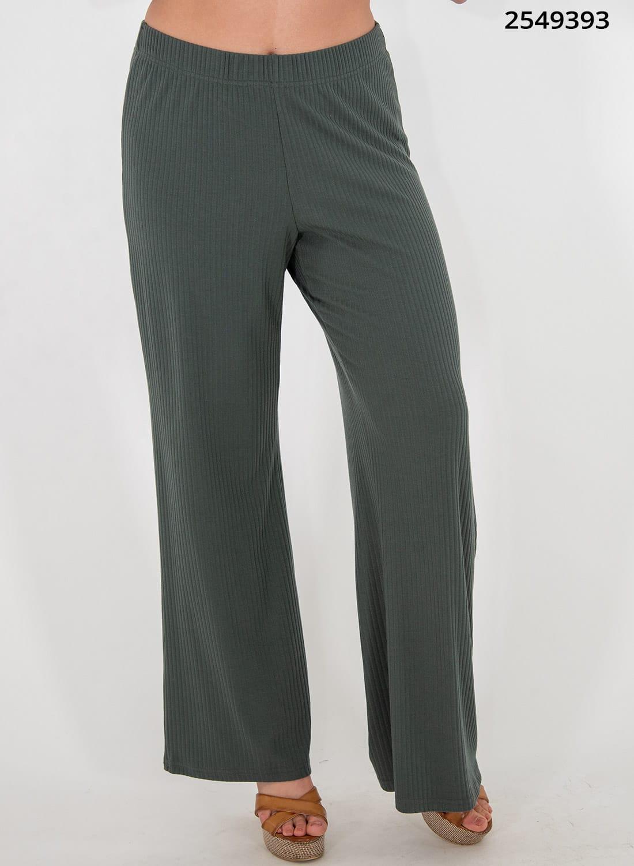 Χακί ριπ παντελόνα με λάστιχο