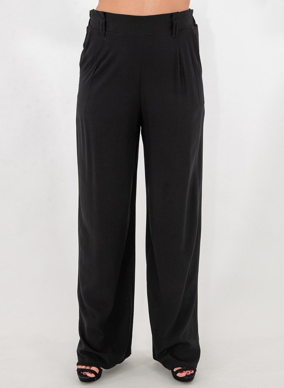 Μαύρη αέρινη παντελόνα