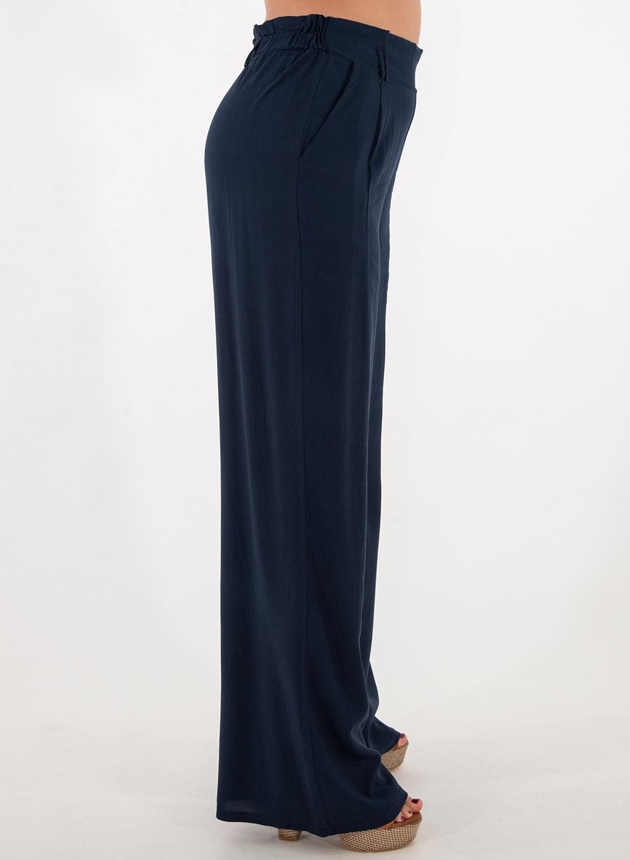 Μπλε αέρινη παντελόνα
