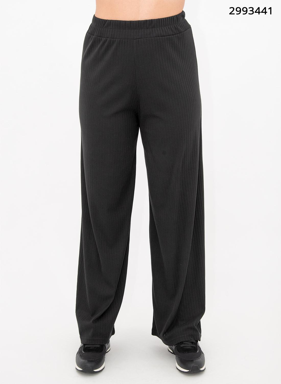Μαύρη ριπ παντελόνα με λάστιχο
