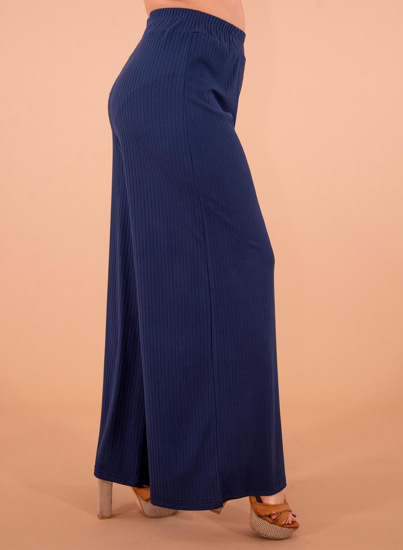 Μπλε ριπ παντελόνα με λάστιχο