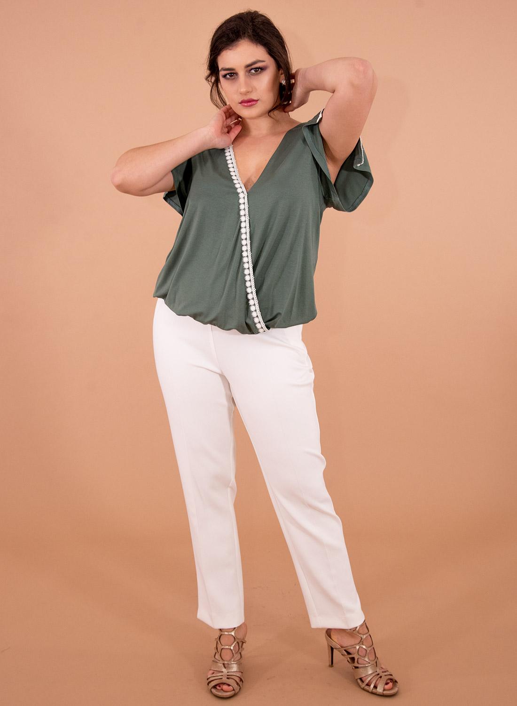 Λάδι νεανική ντραπέ μπλούζα