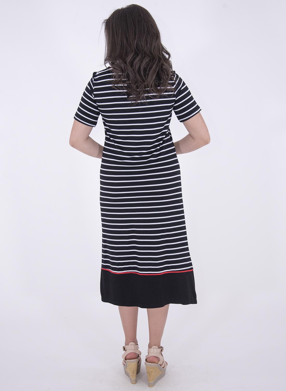 Μοδάτο ριγέ φόρεμα