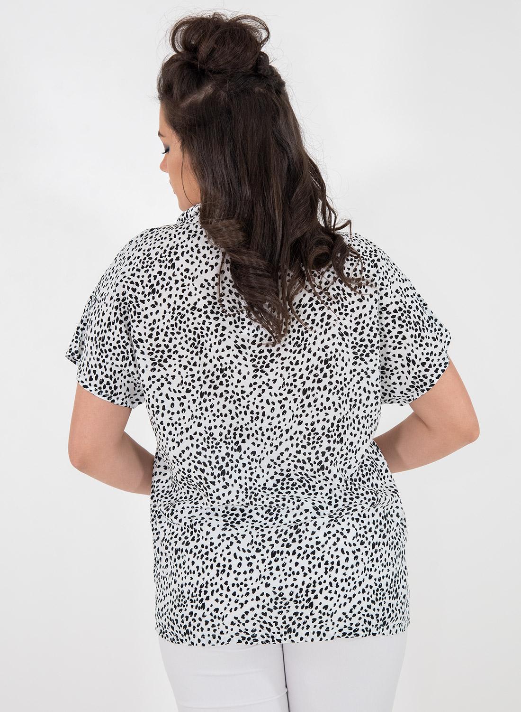 Ασπρόμαυρο κοντομάνικο πουκάμισο