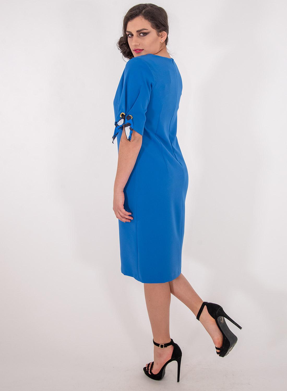 Μπλε ρουά ίσιο φόρεμα