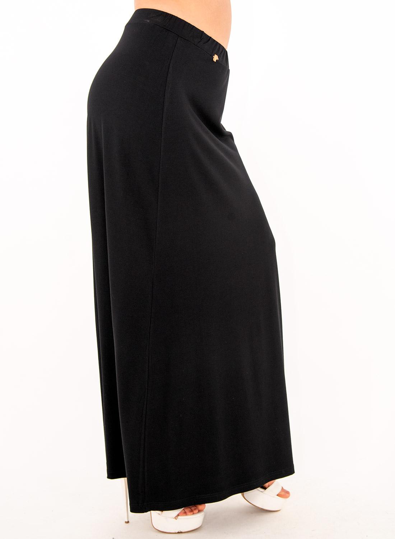 Μαύρη ελαστική μάξι φούστα