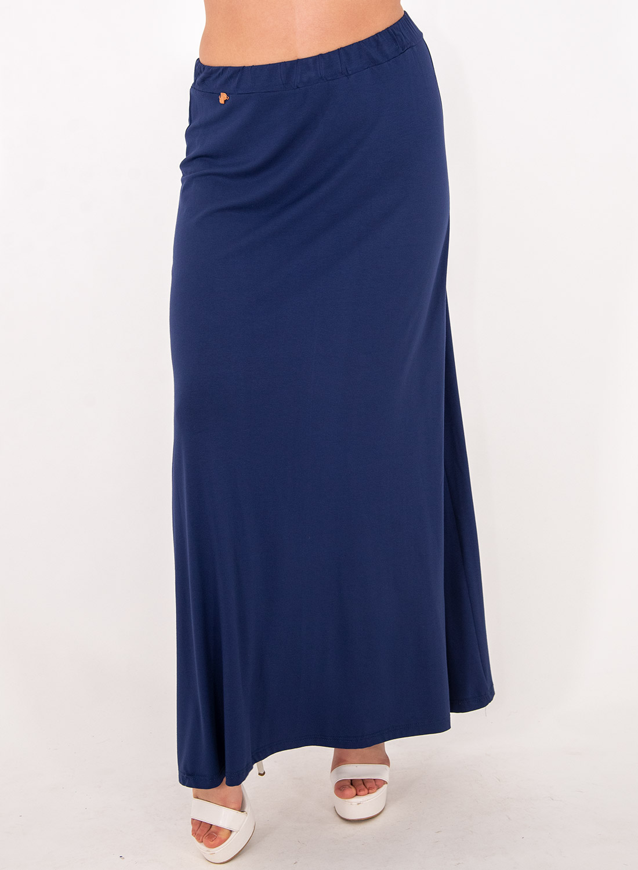 Μπλε ελαστική μάξι φουστα