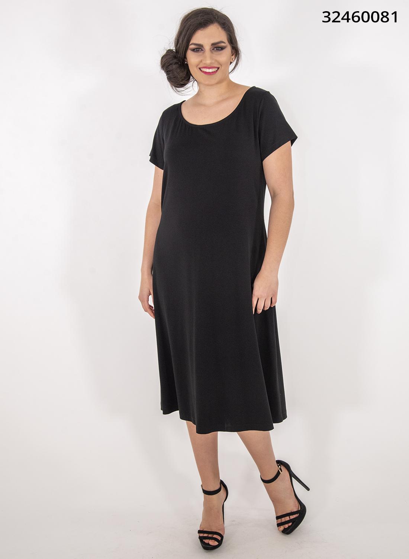 Μαύρο ευκολοφόρετο φόρεμα