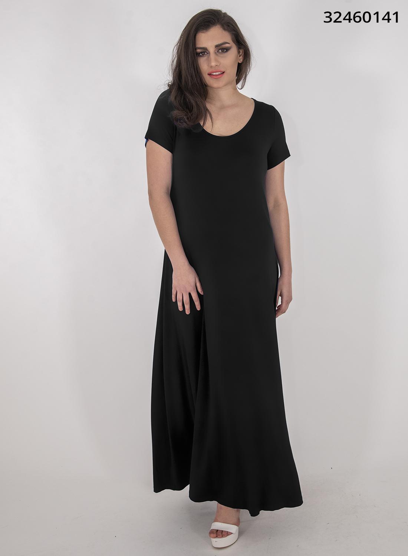Μαύρο μάξι ευκολοφόρετο φόρεμα
