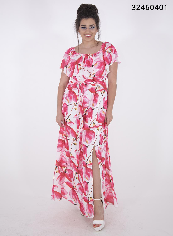 Αέρινο μάξι φλοράλ φόρεμα