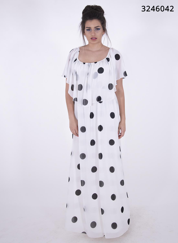 Αιθέριο πουά μάξι φόρεμα