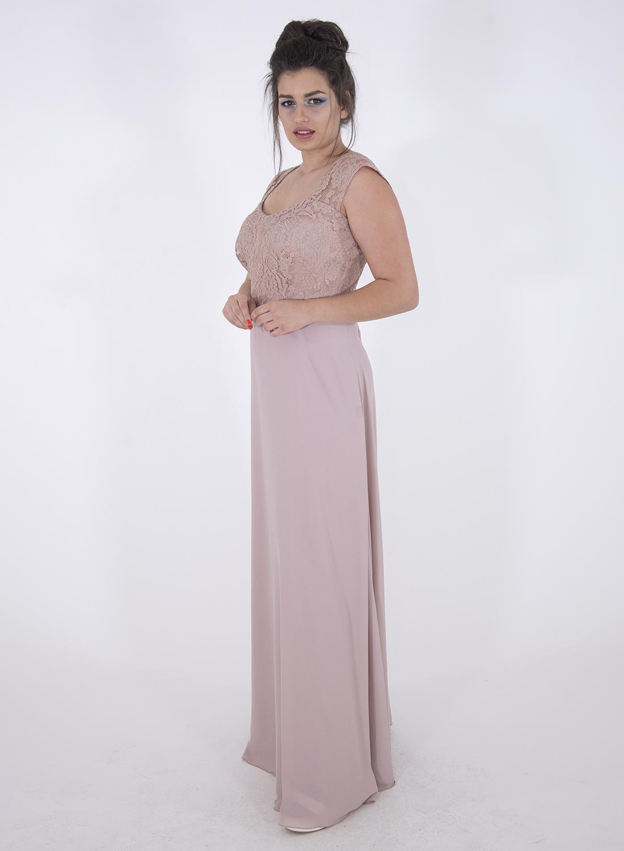Θηλυκό αμπιγιέ φόρεμα με δαντέλα