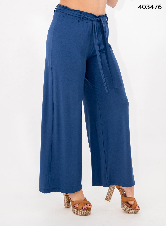 Μπλε παντελόνα με λάστιχο