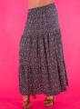 Φλοράλ βαμβακερή μαξι φούστα