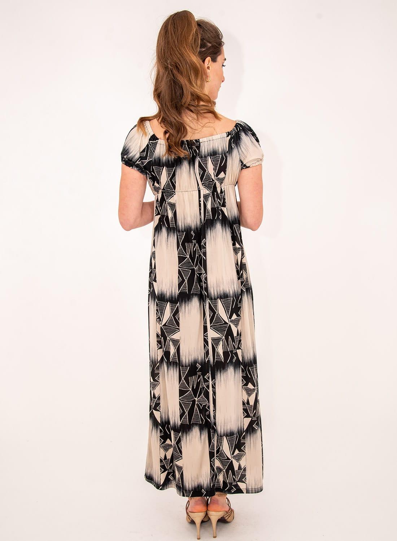 Θηλυκό εμπριμέ μάξι φόρεμα