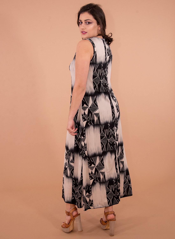Εμπριμέ ευκολοφόρετο φόρεμα