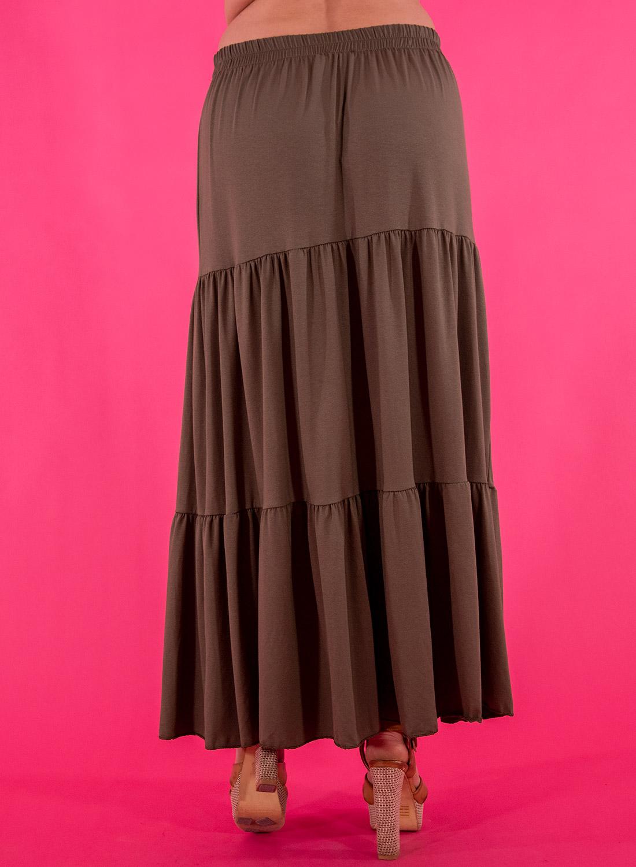 Λαδί μακριά φούστα