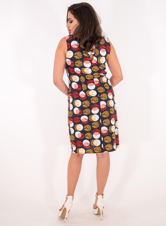 Ίσιο φόρεμα με πουά σχέδιο