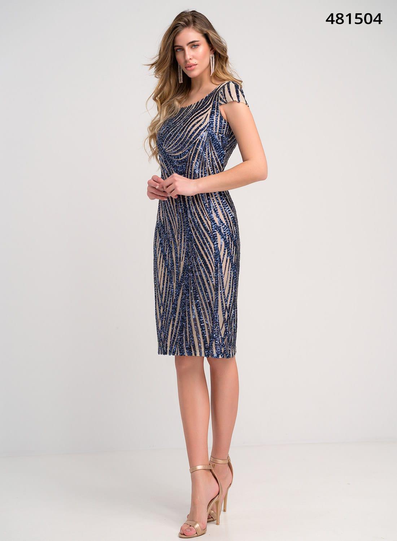 Αμπιγιέ εντυπωσιακό φόρεμα με παγιέτες