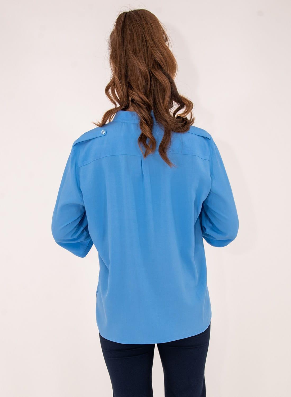 Μονόχρωμο πουκάμισο με τσεπάκια