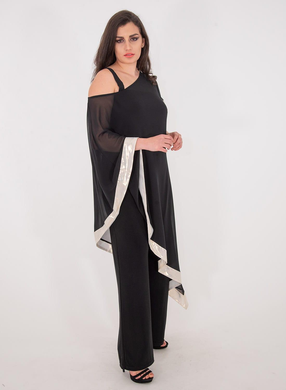 Μαύρη αμπιγιέ ολόσωμη φόρμα