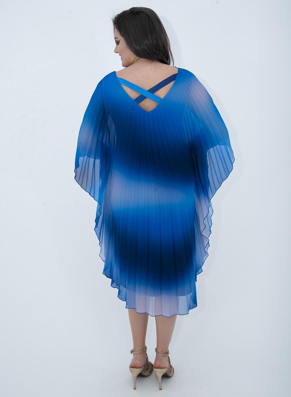 Εντυπωσιακό πολύχρωμο αμπιγιέ φόρεμα