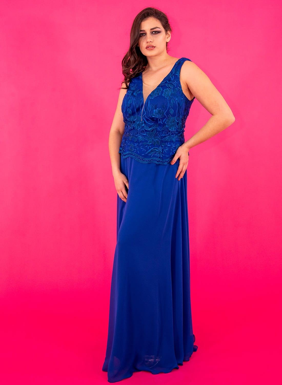 Εντυπωσιακό φόρεμα με δαντελένιο μπούστο