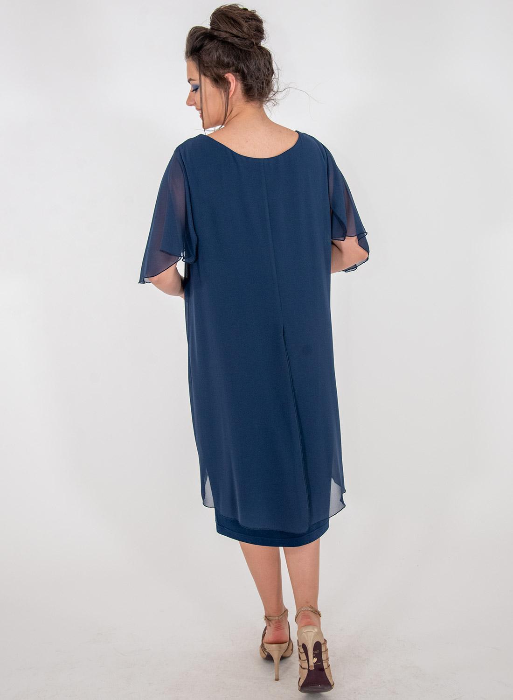 Μπλε αμπιγιέ κολακευτικό φόρεμα