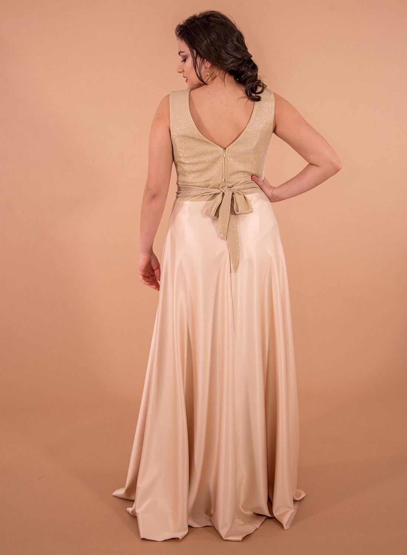 Αμπιγιέ σατέν μάξι φόρεμα