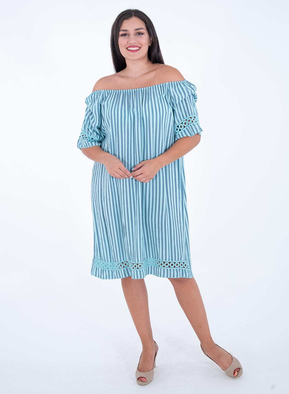 Δίχρωμο νεανικό ριγέ φόρεμα