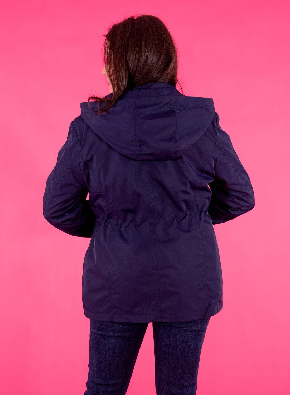 Μπλε σκούρο ανοιξιάτικο μπουφάν με κουκούλα