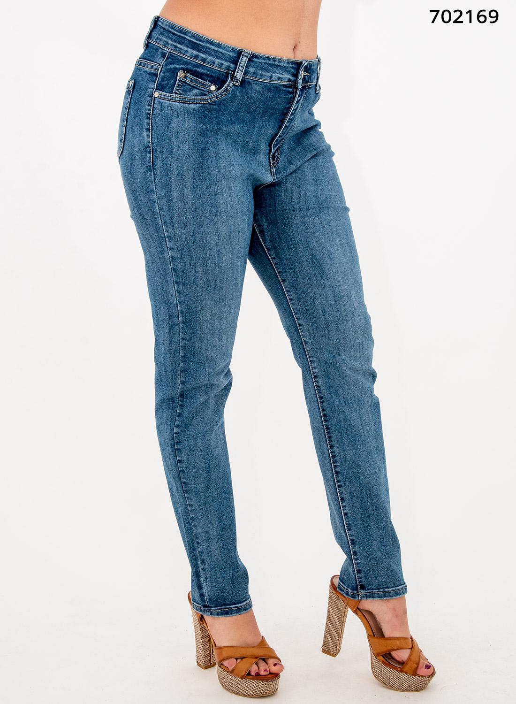 Ελαστικό ψηλόμεσο τζιν παντελόνι