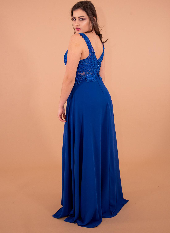 Αμπιγιέ εντυπωσιακό μάξι φόρεμα