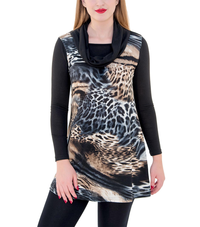 Animal print μπλουζοφόρεμα