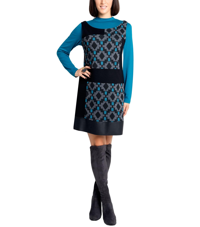 Αμάνικο φόρεμα με γεωμετρικό μοτίβο