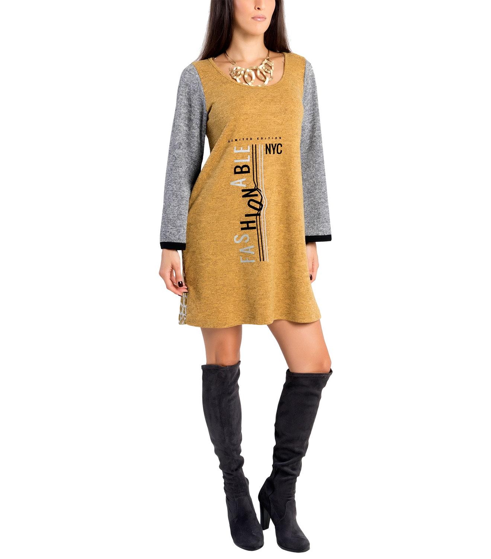 Ευκολοφορετο δίχρωμο φόρεμα