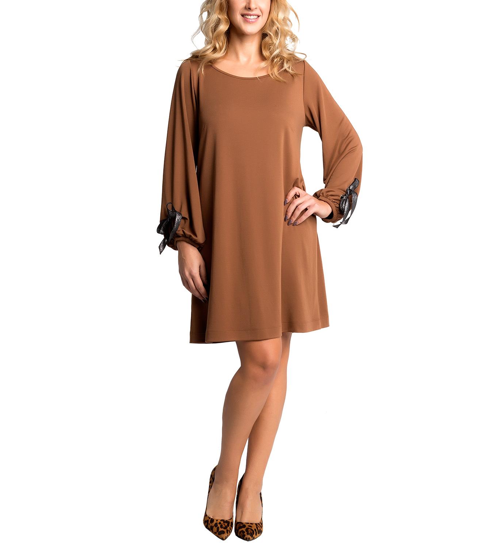 ad7ca40d1a1e Καμηλό ριχτό φόρεμα