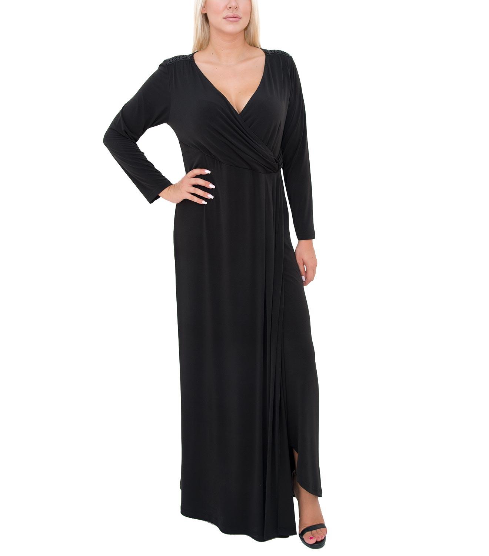 Θηλυκό μαύρο μάξι φόρεμα