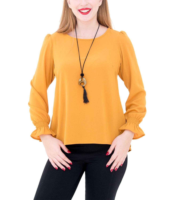 Αέρινη μπλούζα με κολιέ