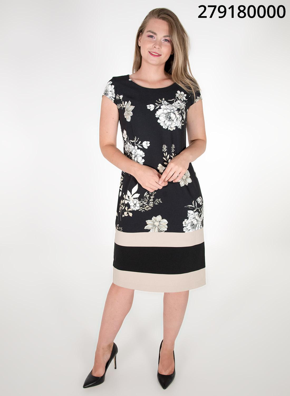 Midi φλοράλ φόρεμα με ρίγες
