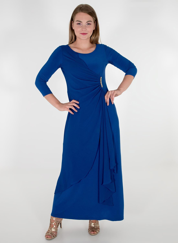 Maxi ρουά κολακευτικό φόρεμα