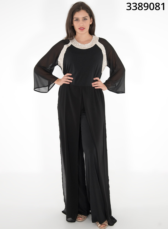 Μαύρη αμπιγιέ φόρμα με παγιέτες